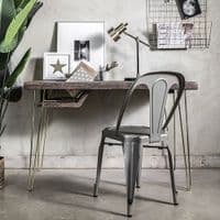 Ouseburn Hairpin Leg Desk With Storage   Funky Chunky Furniture